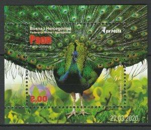 Bosnia and Herzegovina 2013 Birds, Peacock MNH Block