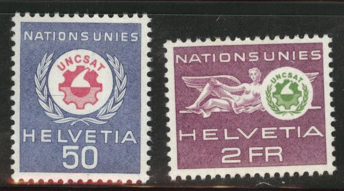Switzerland Scott 7o38-7o39 MNH** UNCSAT  set