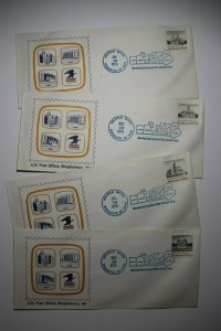 US Post Office Birmingham NY Sc# 1779-1782 Philatelic Center Cachet Cover