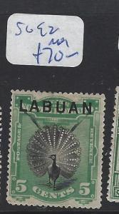 LABUAN  (P2010B)   5C  BIRD     SG 92     MOG