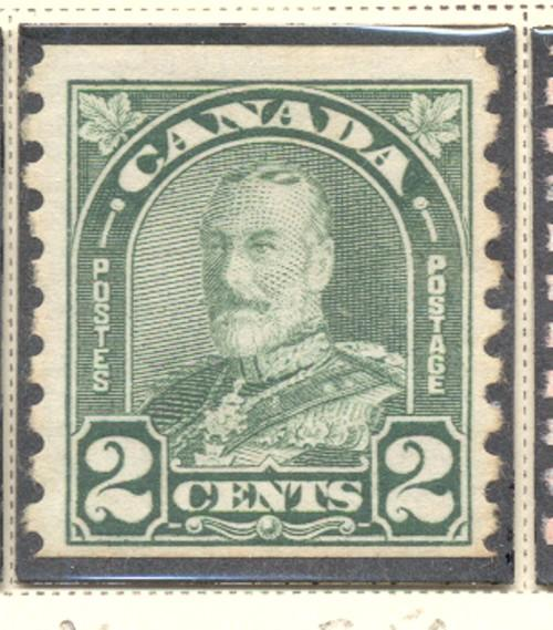 Canada Sc 180 1930 2c green G V arch issue coil stamp mint
