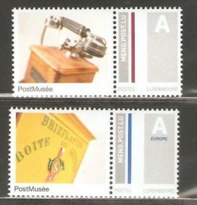 2009   LUXEMBOURG  -  SG  1854 / 1855  -  PERSONALISED STAMPS  - UMM