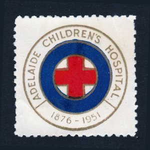 REKLAMEMARKE POSTER STAMP ADELAIDE CHILDREN'S HOSPITAL 1876-1951