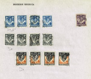 Northern Rhodesia USED STAMPS ON PAGE COLLECTION LOT #2