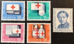 Switzerland B324-8 Red Cross MNH  SCV $3.25