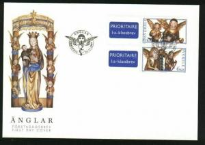 Sweden. FDC Cachet 1997 Christmas Stamps. Angels.