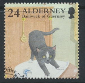 Alderney  SG A90  SC# 93  Cats   Used First Day Cancel - as per scan