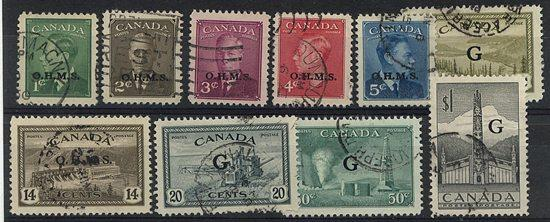 Canada - 10 Different G Officials Used #O18//O32