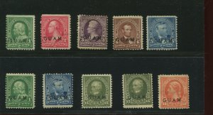 Guam 1//11 Lot of 10 Mint & Unused   Stamps   (Stock Bx 1070)