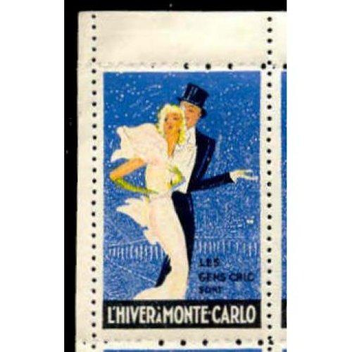 Monaco - L'Hiver a Monte Carlo Poster Stamps by Domergue