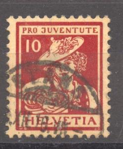 Switzerland  Pro Juventute 1916 the 10 Rp. VF ++ used