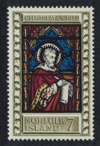 Norfolk 'St. Mark' Stained Glass Christmas 1v issue 1972 SG#127 SC#150