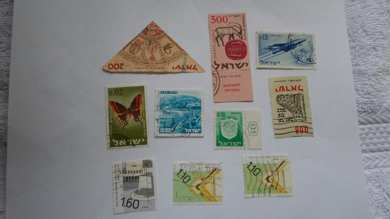 ISRAEL STAMPS MIXED CONDITION. LOT OF 10 STAMPS ( 13