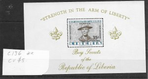 Liberia #C136 MNH - Souvenir Sheet CAT VALUE $5.00
