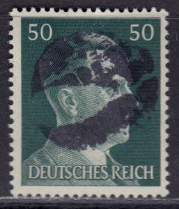Germany Soviet Zone SBZ - LOCAL BLOSENBERG 50Pf HITLER head - Expertized Richter
