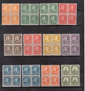 Canada #162 - #177 VF Mint Block Set