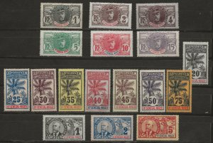 Upper Senegal & Niger 1-17 Y&T 1-17 MLH VF 1906 SCV $262.65 (jr)