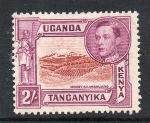 Kenya Uganda Tang 1938 KGVI 2/- p13¼ SG 146 mint KUT