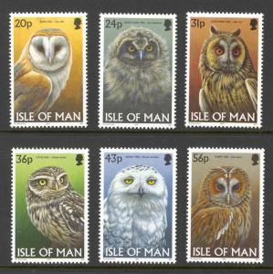 Isle of Man Sc# 727-732 MNH 1997 Owls