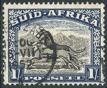 South Africa, Sc #62h, 1sh Used