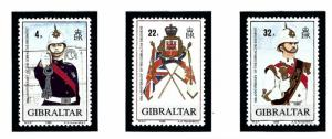 Gibraltar 545-47 MNH 1989 Gibraltar Regiment