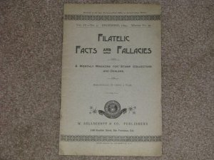 FILATELIC FACTS & FALLACIES, VOL. IV--NO. 3, DEC., 1895, WHOLE NO. 39, MONTHLY