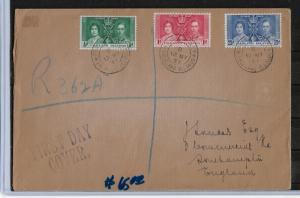 Falkland Islands 1937 FDC Coronation Issue,VF-XF ! Post Used !!! (NR-7) ESTV$65