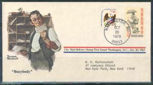 UNITED STATES NORMAN ROCKWELL SPECIAL COVER BUSYBODY AS SHOWN