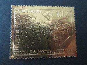 Burkina Faso 1969 Sc C68 (Gold Foil) space set MNH