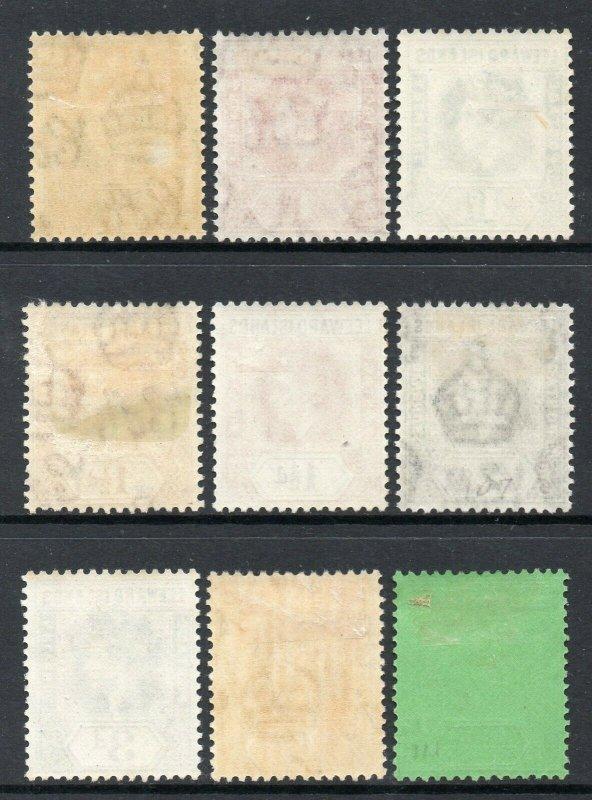 Leeward Islands 1938 KGVI p/set (9v mint