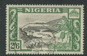 Nigeria -Scott 88 - QEII Definitive -1953 - Used - Single 2/6 Stamp