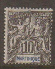Martinique #38 Mint No Gum