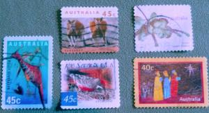 Australia. Collection - Five Used VF NH