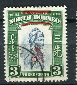 NORTH BORNEO; 1947 Crown Colony issue fine used 3c. value + Postal cancel