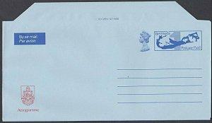 BERMUDA Arms / Map Postage Paid aerogramme unused...........................K245