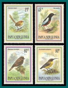 Papua New Guinea 1993 Small Birds, MNH 802-805,SG683-SG686