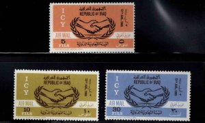 IRAQ Scott C9-C11 MH* Airmail stamp set