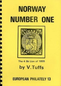 NORWAY 1855 4sk NUMBER 1 CATALOGUE V. Tuffs Illustrated (52 Pages)