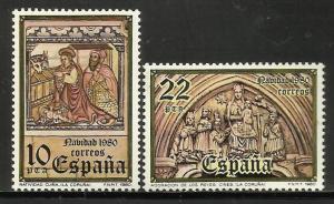 Spain hristmas 1980 Scott# 2223-2224 MNH
