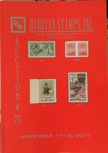 Raritan Auction # 75,Nov 2017 Catalog,Rare Russia-Soviet Postage & Worldwide !