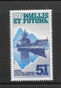 WALLIS & FUTUNA  #C143  SHIP-JACQUES CARTIER   MNH