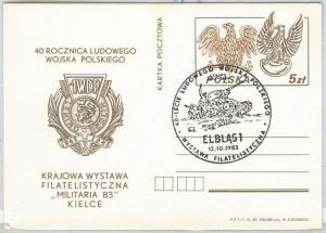 MILITARY war TANK birds EAGLE -  POSTAL HISTORY - POLAND: Postal stationery card