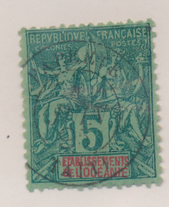 French Polynesia Stamp Scott #4, Used - Free U.S. Shipping, Free Worldwide Sh...