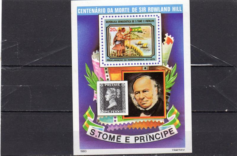 St Thomas Sir Rowland Hill M/s MNH