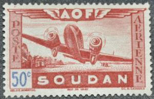 DYNAMITE Stamps: French Sudan Scott #C6 – UNUSED
