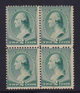 213 Block of 4 F-VF OG never hinged nice color cv $ 520 ! see pic !