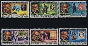 Central Africa 366-9, C203-5 MNh Rowland Hill, Stamp on Stamp, Bicycle