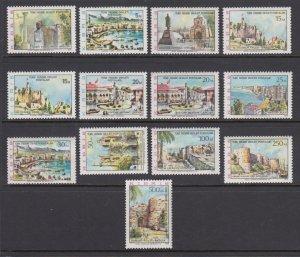 Turkish Northern Cyprus Sc 10-22 MNH. 1975 Historical Sites & Landmarks, VF