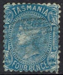 TASMANIA 1870 QV 4D BLUE WMK 4 USED