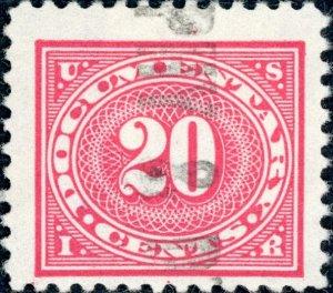 #R235 – 1917 20c car ros,offset,dl wmk,perf 11. Used.